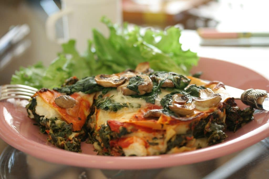 Veg Lasagna stuffed Mushrooms