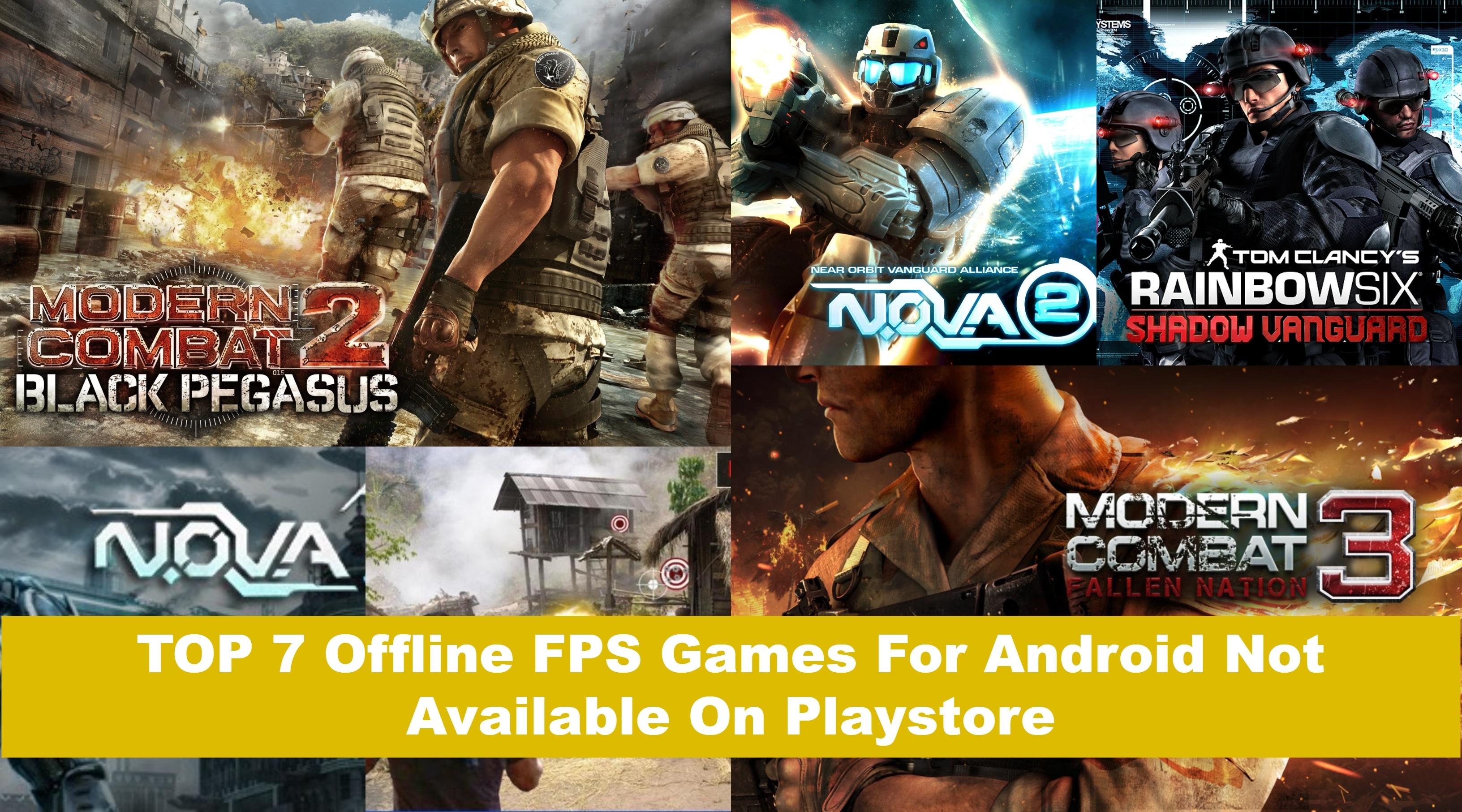 TOP 7 Offline FPS Games For Android Not Available On Playstore
