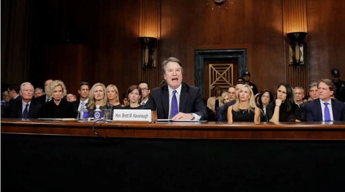 US Supreme Court Nominee Brett Kavanaugh testifies before a Senate Judiciary Committee