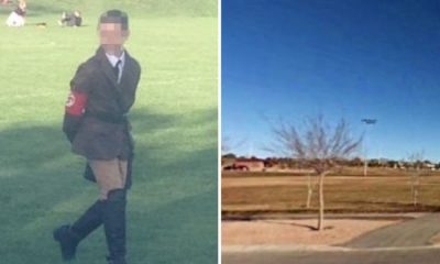 Teacher sparks outrage by dressing her young son as Hitler for Halloween party