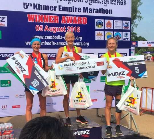 Woman attempts 12 marathons in 12 months to raise money for Myanmar