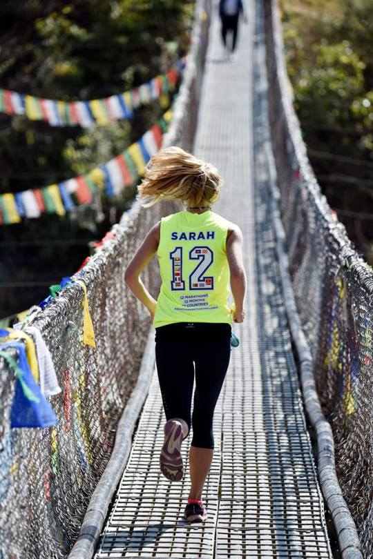 Sarah Easton Jogger Attempts 12 Marathons in 12 months to raise money for Myanmar
