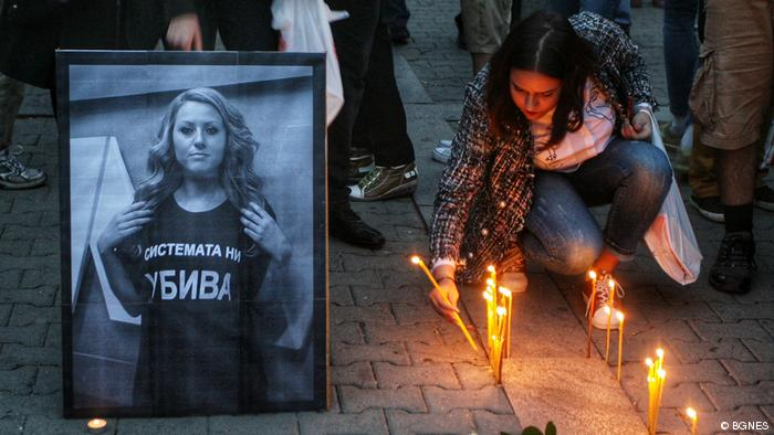 Hundreds gather at the funeral of Bulgarian journalist Viktoria Marinova