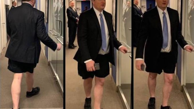 "Philippe Reines, a former senior adviser to Hillary Clinton, stripped down to his underwear and went on an ""unhinged"" rampage at Fox News on Tuesday night, abusing a Trump campaign advisor while ""screaming like a maniac"", according to shocked onlookers who captured cellphone footage of the disturbing incident."