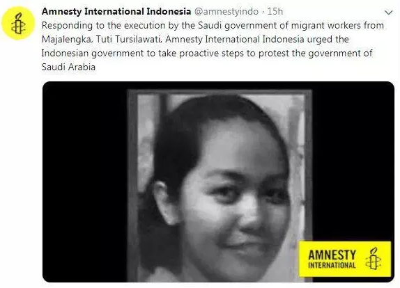 Indonesian Maid Executed In Saudi Arabia For Killing Boss As He Tried To Rape Her