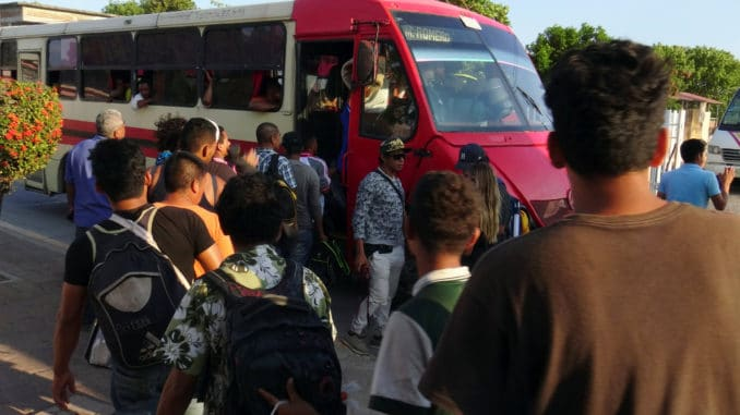 Mexican authorities have broken up the Honduran migrant caravan and placed the migrants in buses and private cars headed towards different US border towns, according to a Reuters report from Mexico.