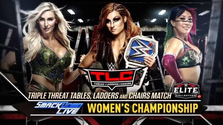 SMACKDOWN WOMEN'S CHAMPIONSHIP – BECKY LYNCH (c) vs CHARLOTTE FLAIR vs ASUKA ( TLC Match )