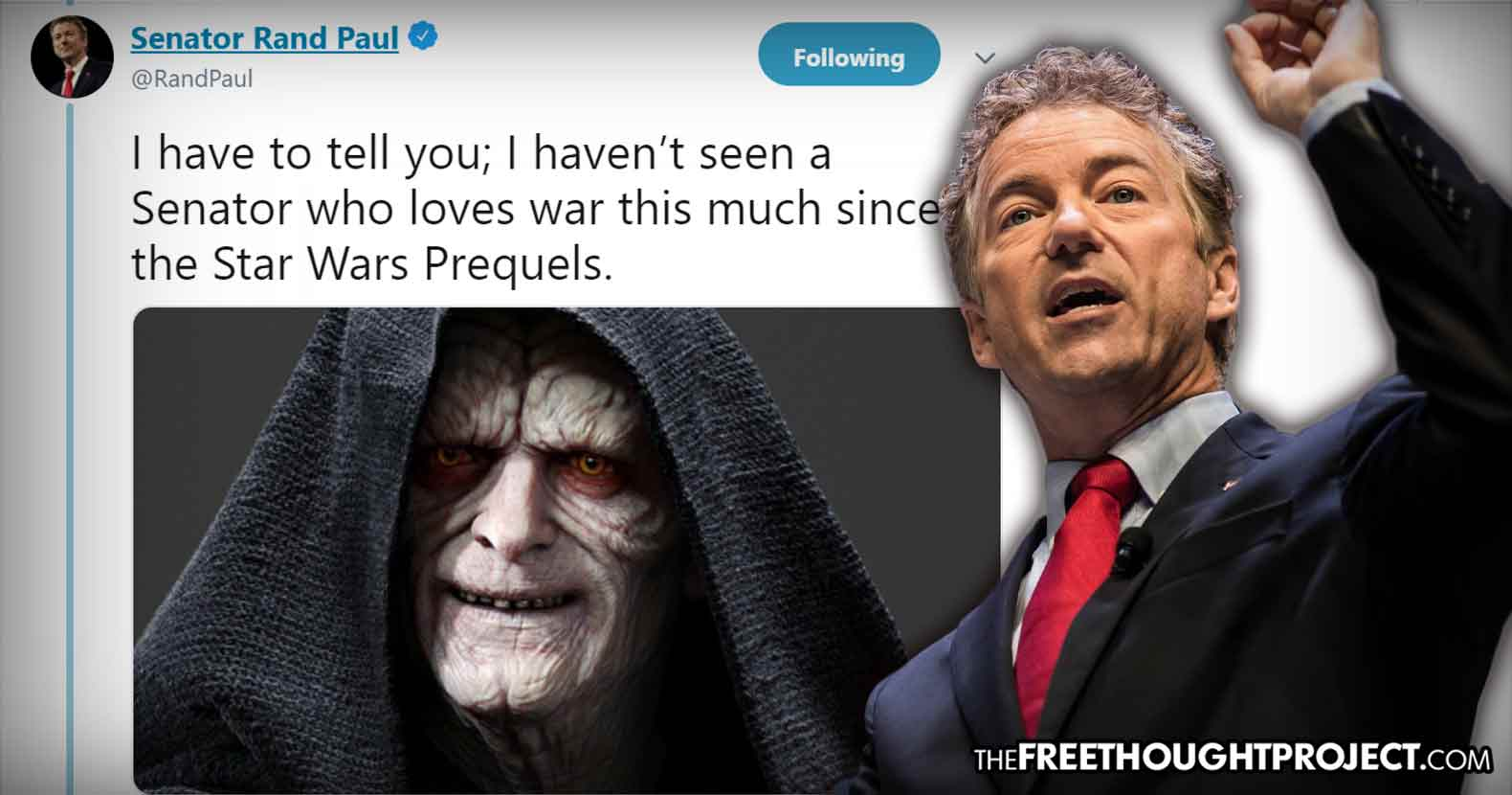 Senator Rand Paul Owns the Warmongers in D.C. with an Epic End of the Year Tweet Storm