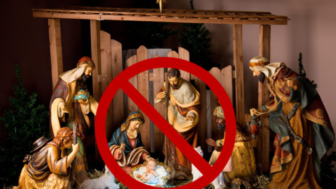 "To celebrate the birthday of Jesus Christ, the Robious Middle School in Midlothian, Virginia, has banned all Christmas carols that mention his name in order to be ""sensitive"" to students of ""diverse"" backgrounds."