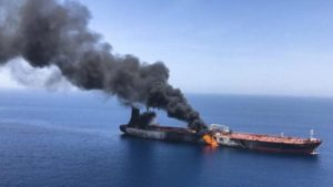"Iran has accused the US Secretary of State Mike Pompeo of lying about the ""torpedo attack"" on an American-linked oil tanker as tensions reach breaking point."