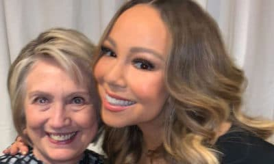 Popstar Mariah Carey Celebrates Meeting Hillary Clinton