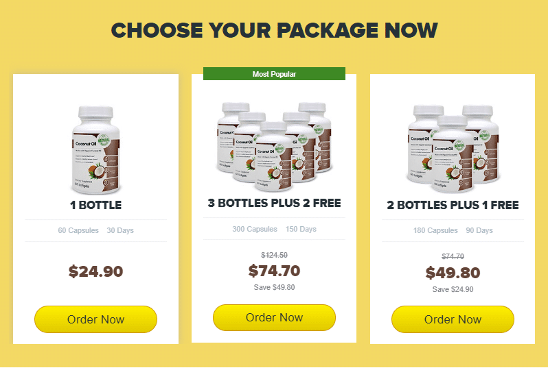 coconut oil package