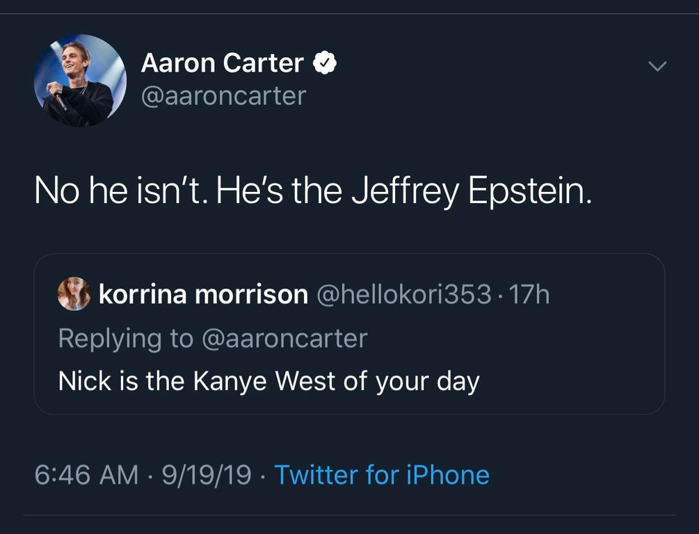 Sexually Abused Him 10 Aaron Carter Says Nick Carter (and Sister)
