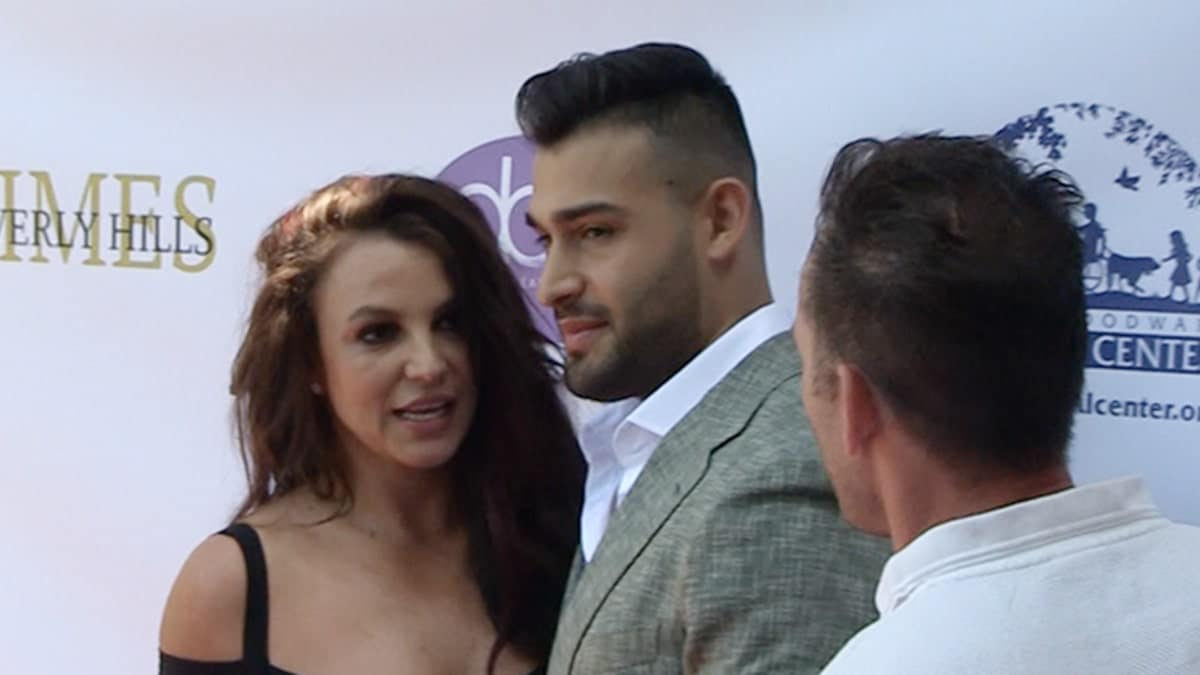 Sam Asghari's Award Show and Leaves Event Britney Spears