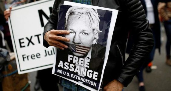 """Julian Assange Tells Friend """"I'm slowly dying here"""" during a phone call from his UK prison"""
