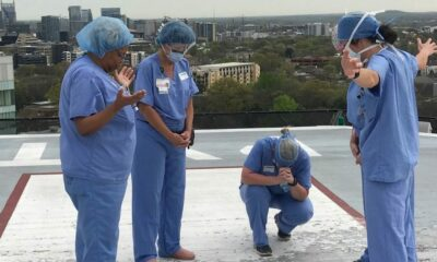 Nurses Pray Over Patients on Hospital Roof During Break: 'Go to the Helipad and Pray'