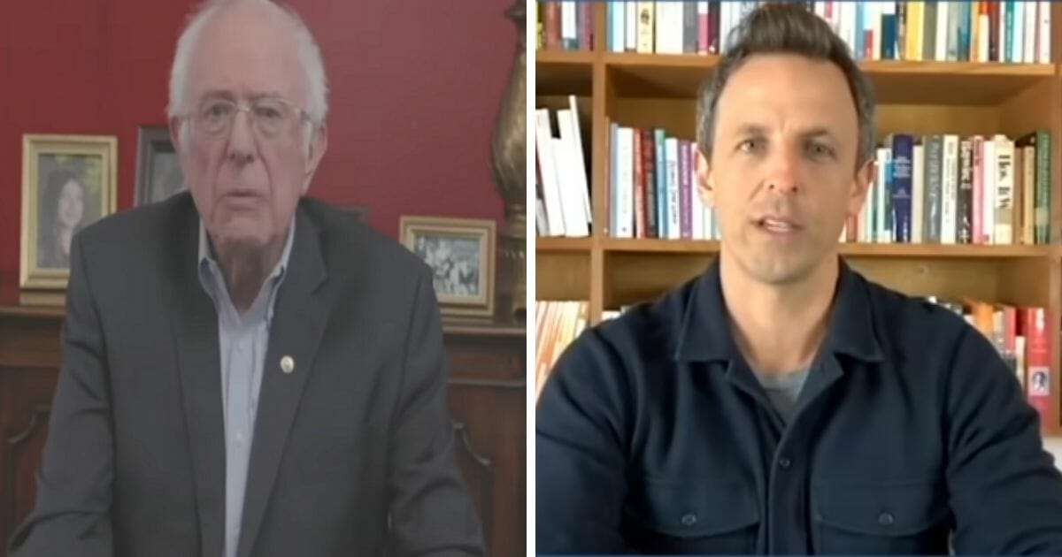 Watch NBC's Seth Meyers Basically challenge Bernie to politicize COVID-19 Crisis