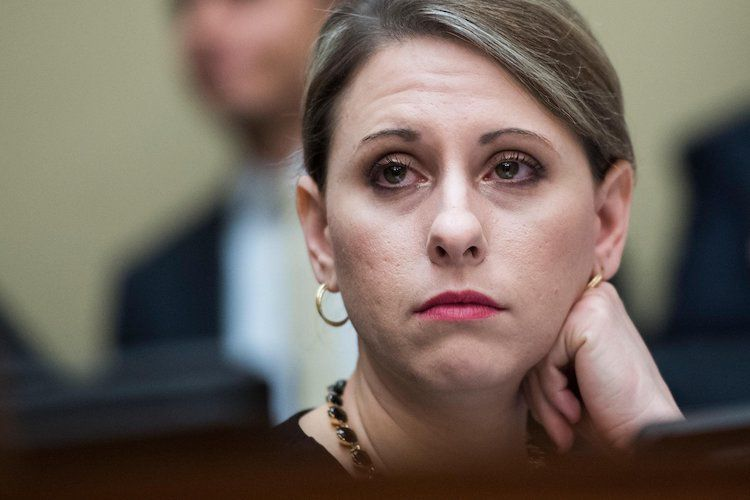 To give seat to the opposing party due to sex scandal to Rep. Katie Hill is the first female in history