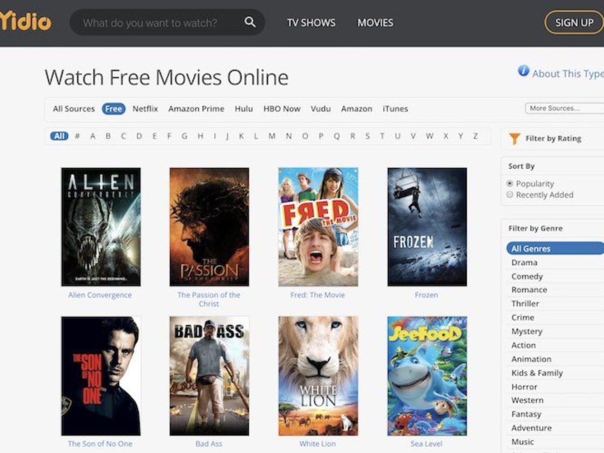 Websites to Download Free Movies and Series