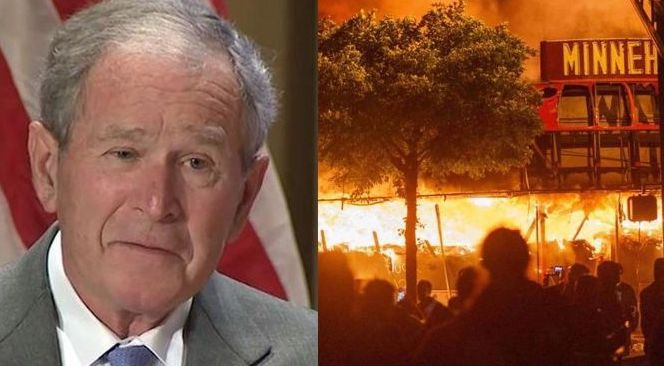 "Former President George W. Bush has praised the ""protesters"" who he says are marching for ""a better future"" and ""lasting peace"" while hundreds of cities across the country are engulfed in chaos and organized destruction."