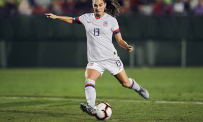 Alex Morgan Playing Football