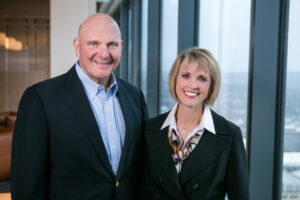 Steve Ballmer With Connie Ballmer