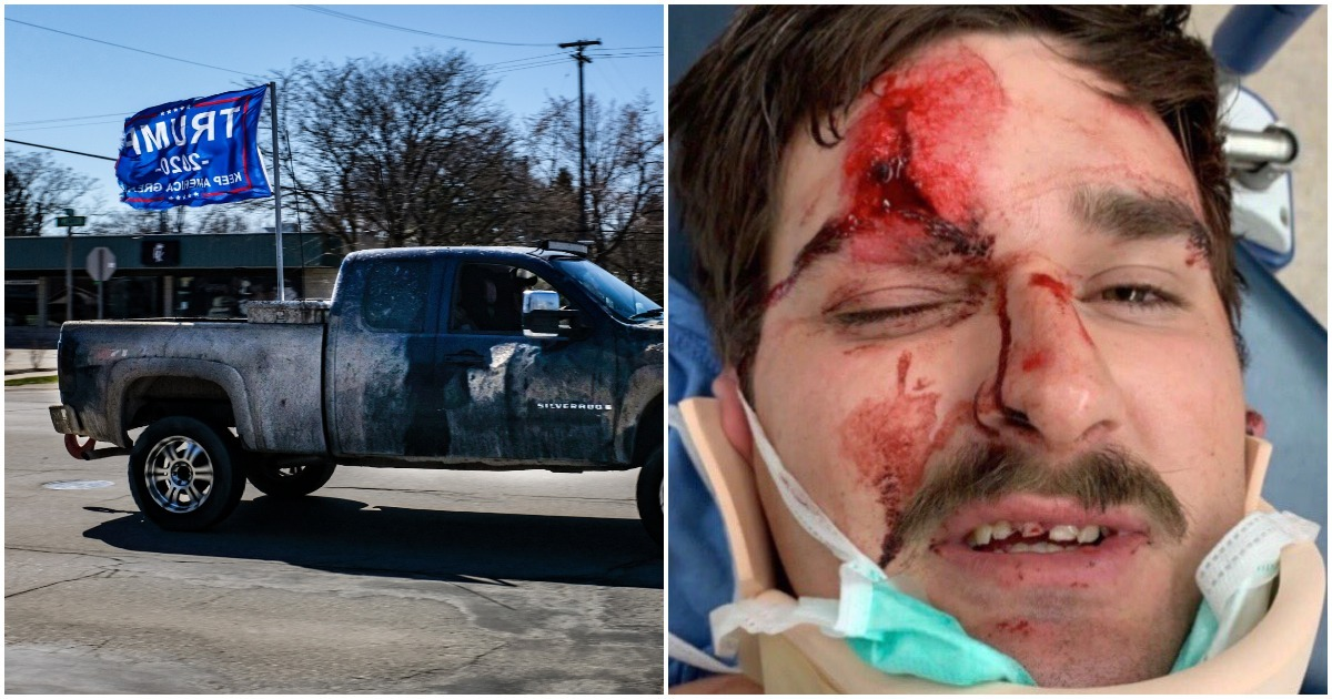 Man Nearly Murdered After Flying Trump's Flag On His Truck