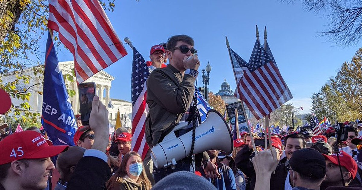 'GOD IS ON OUR SIDE': Public Roars During Nick Fuentes Speech At Million MAGA March