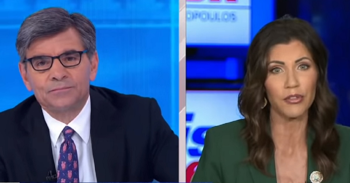 SD Gov. Kristi Noem Schools Stephanopoulos As he says 'no signs of wrongdoing'