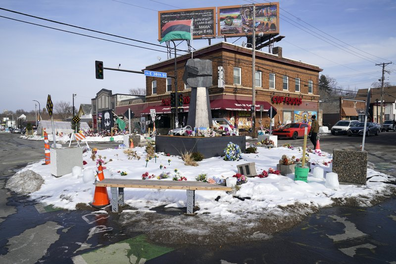 Officer's trial could result in the reopening of the intersection where Floyd died.