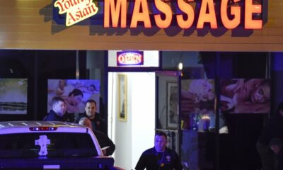 Eight people were killed in a shooting at a massage parlor in Georgia; the gunman has been apprehended.