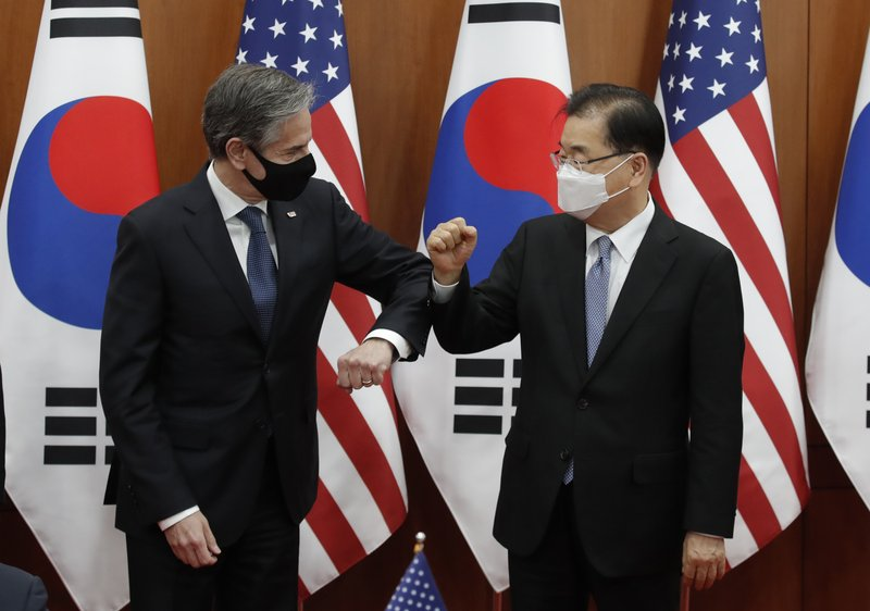 Blinken calls on China to persuade North Korea to give up its nuclear weapons.