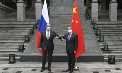 Officials from China and Russia meet in a show of solidarity against the EU and the US.