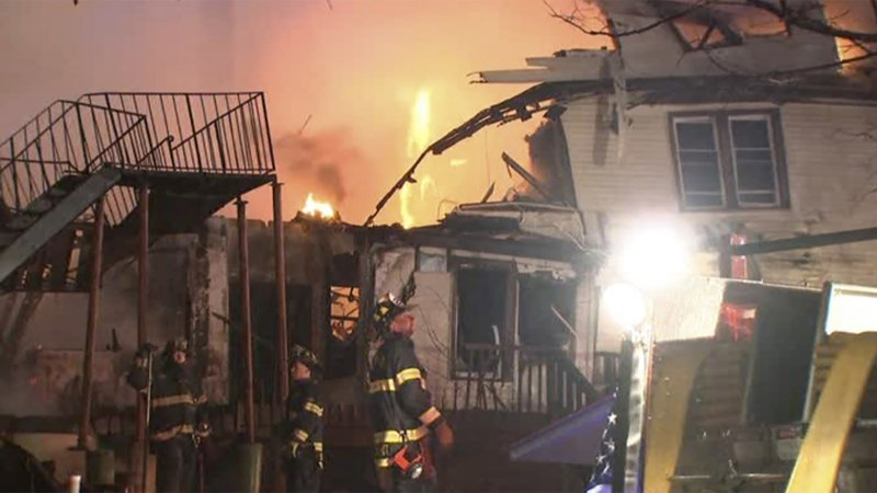 An assisted living facility in New York has been forced to evacuate due to a fire.