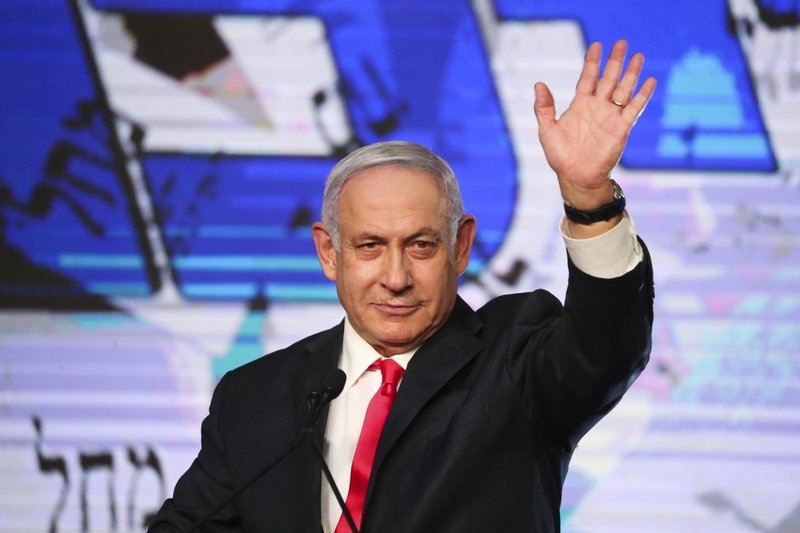 Netanyahu appears to be short of a majority in Israel's election.