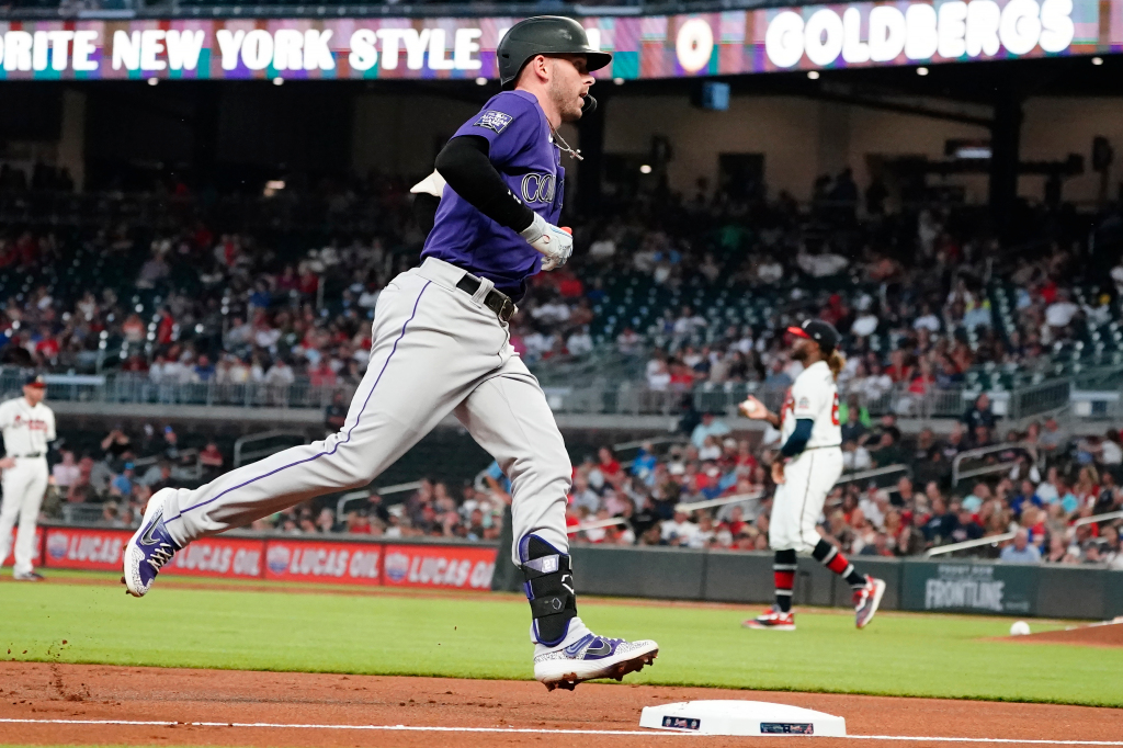 Trevor Story and Brendan Rodgers homer in Rockies' road victory over Braves