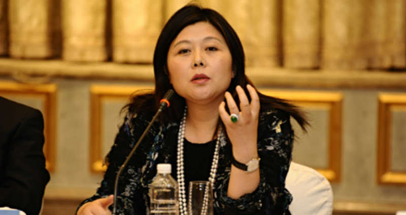 China's richest woman reappeared