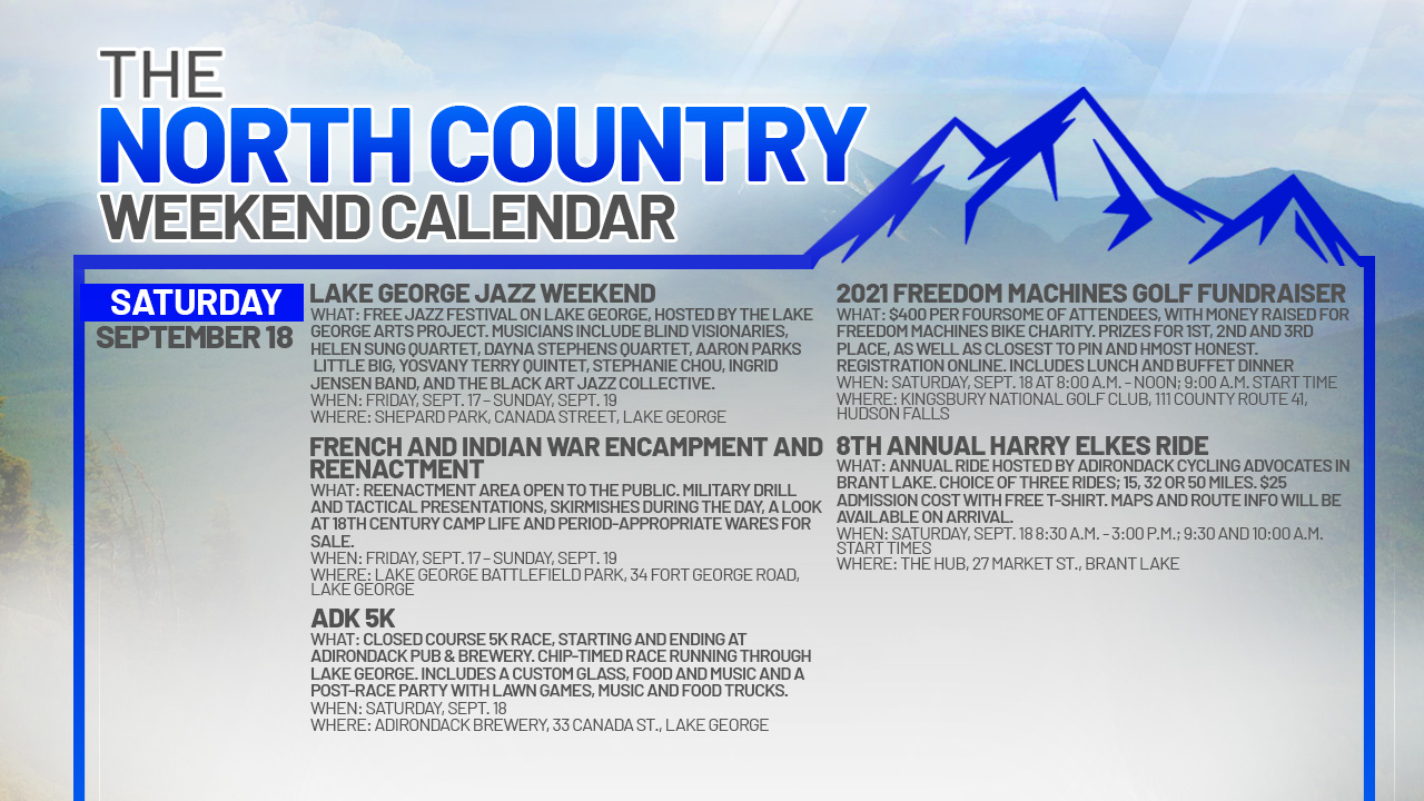 1631947713 609 North Country Weekend Calendar Smooth jazz and local history in