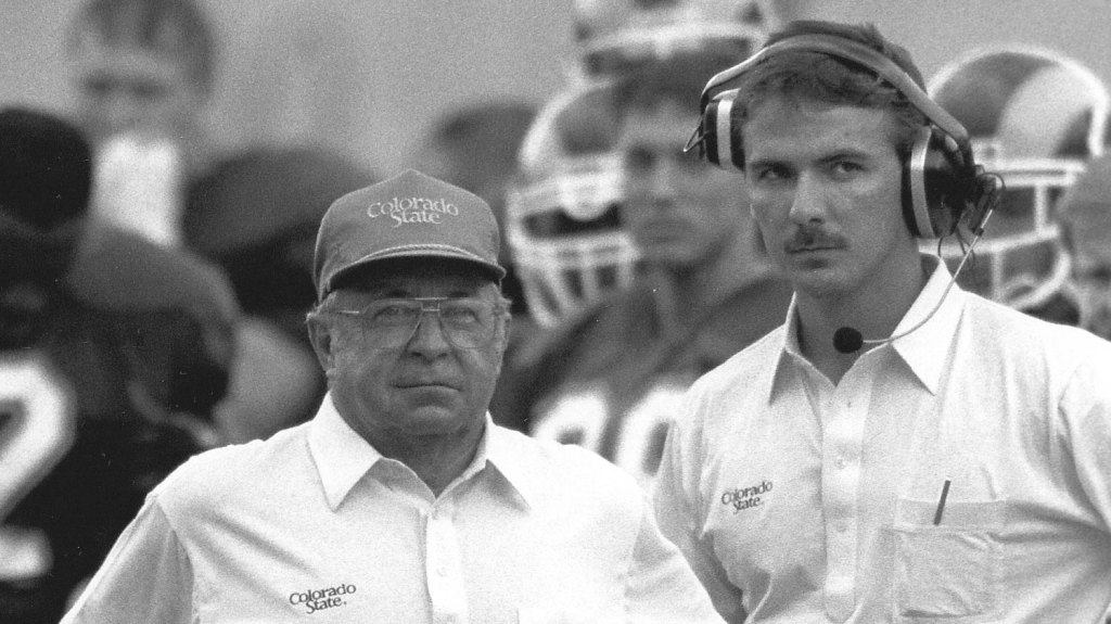 At Colorado State, a young Urban Meyer established a reputation for intensity and attention to detail