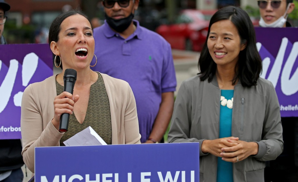 Sonia Chang-Diaz endorses Michelle Wu for mayor
