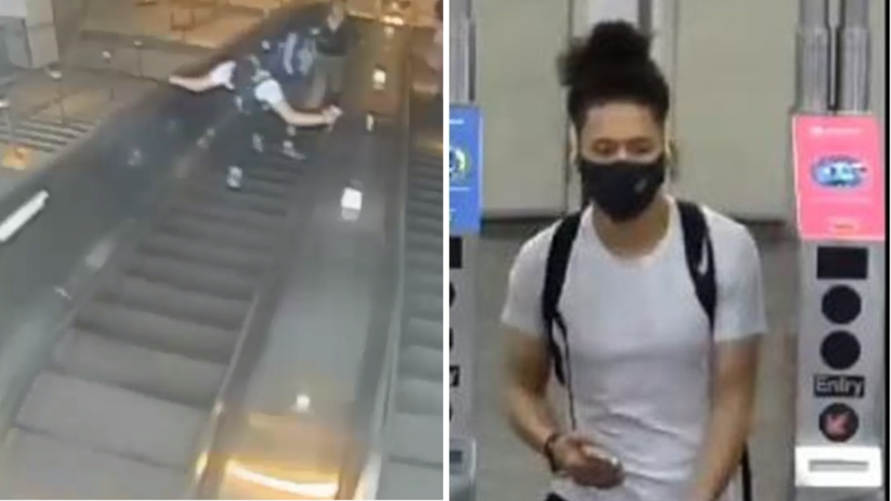 Man who kicked woman down NYC subway station escalator has been arrested, police say