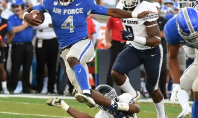 Utah State rallies late to beat Air Force for 3rd win, 49-45