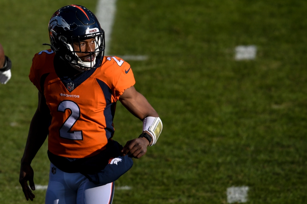 WATCH: Broncos' Kendall Hinton makes his first NFL career reception