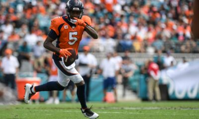 Broncos QB Teddy Bridgewater goes from steady to heady, joins Aaron Rodgers, Drew Brees in NFL record book