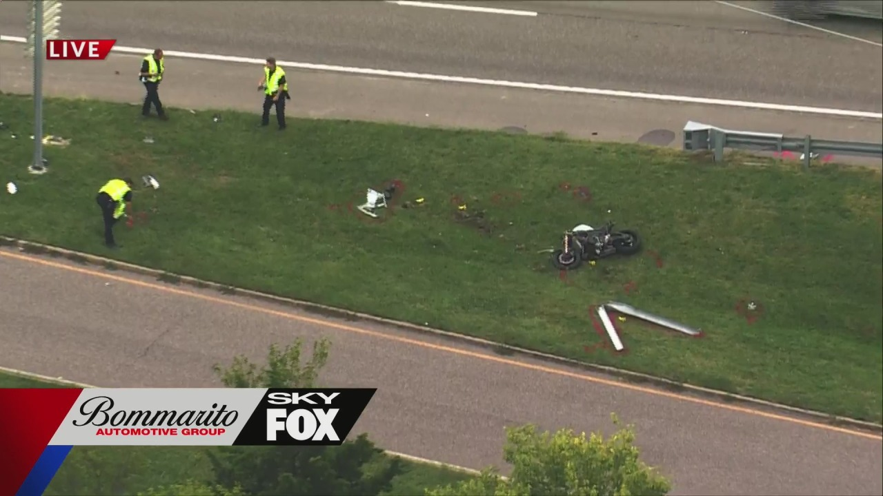 Fatal motorcycle crash closes ramp from I-44 in Webster Groves