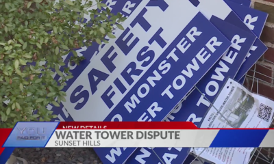 Sunset Hills aldermen order city workers to restore signs protesting proposed water tower