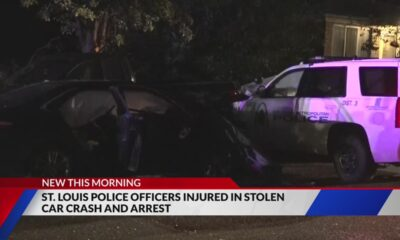 Two officers injured in south St. Louis stolen car crash