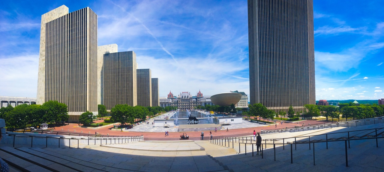Free fall fitness classes offered at the Empire State Plaza