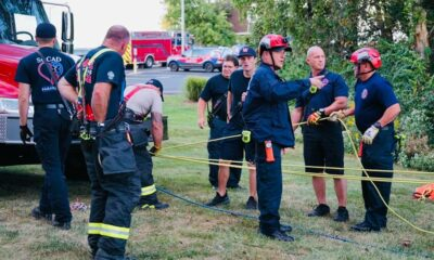 Fire Department rescues person on a cliff in Lake St. Louis