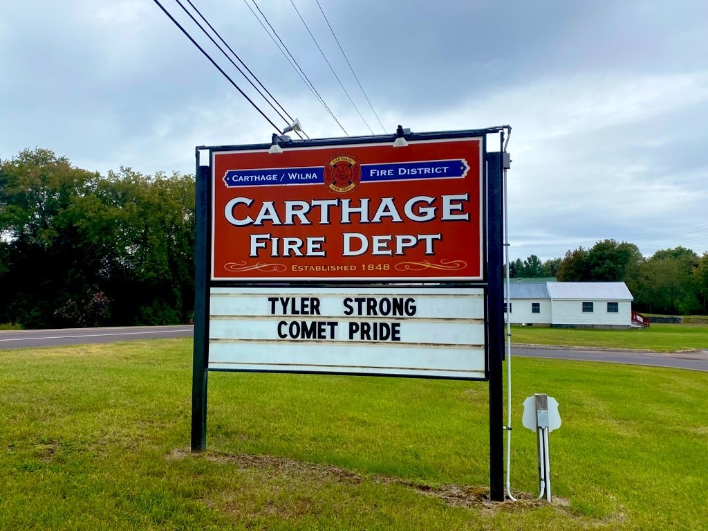 Carthage community honors football player who died from head injury
